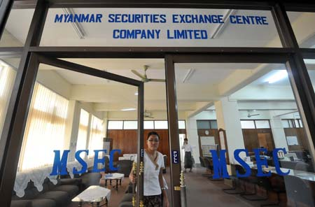 Myanmar aims to launch bourse by 2015