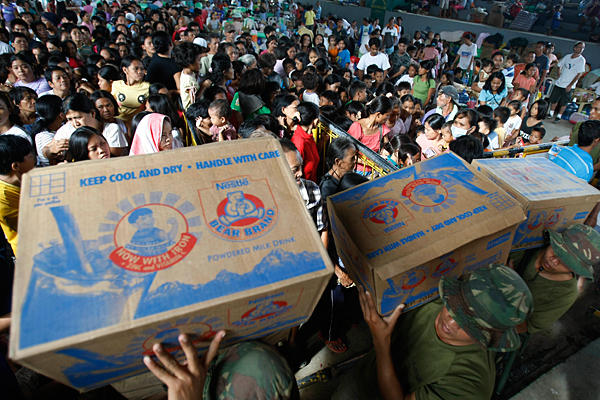 Philippines blacklisted for handling aid