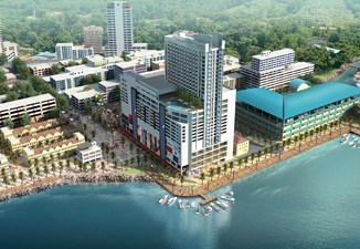 Sandakan Harbour Square With FPbS Sandakan Aerial