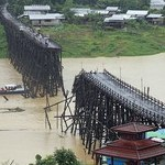 World's second longest wooden bridge collapses