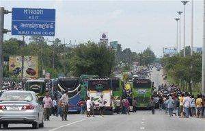 Thai rubber rally