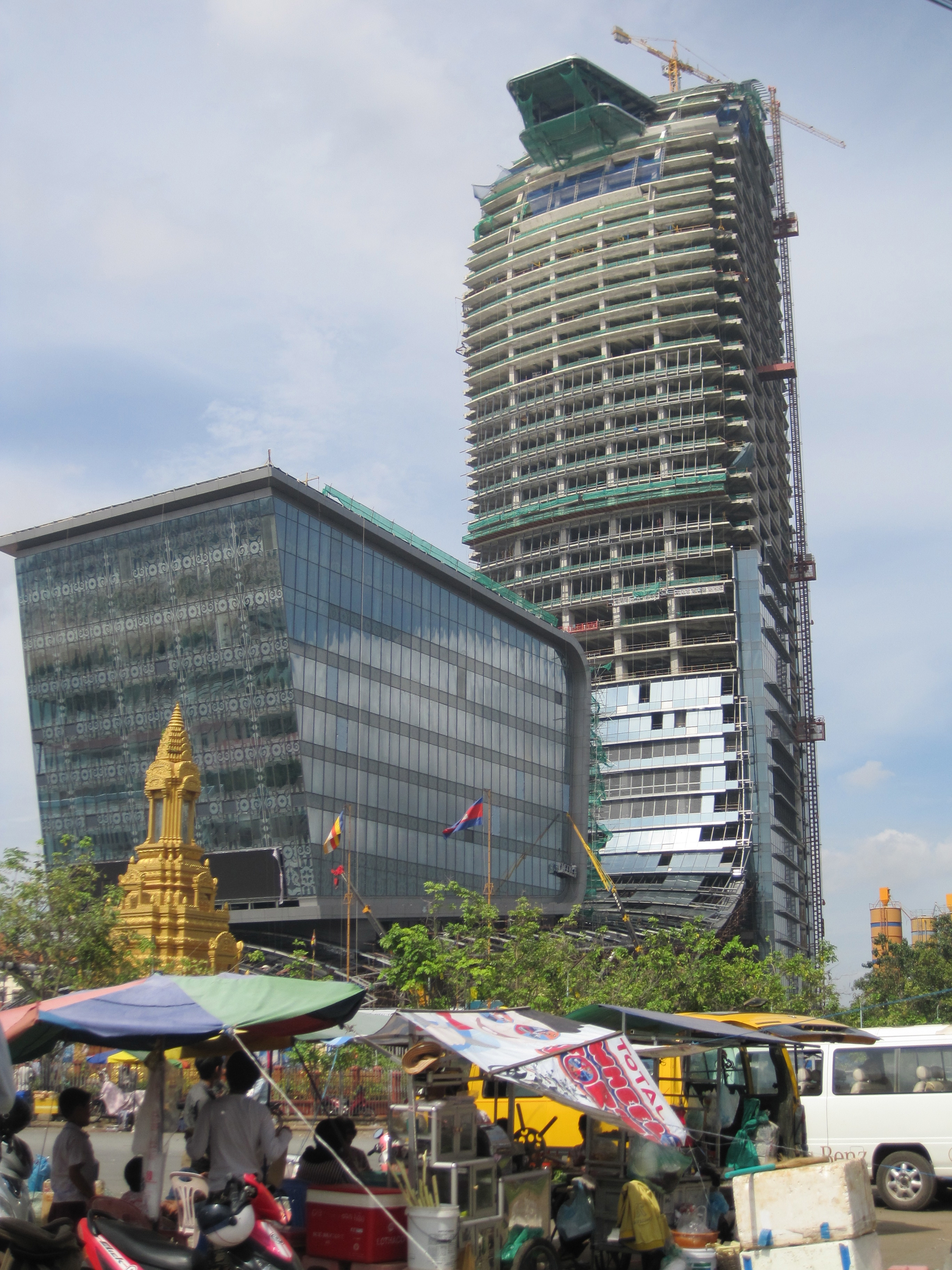 The Vattanac Capital Towers Archetecture Was Inspired By The Naga A Mytical Serpent