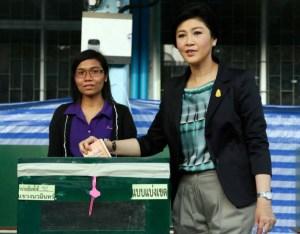 Yingluck voting