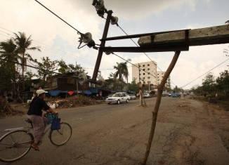 Myanmar cuts power for industrial zones