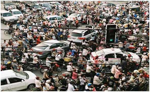 Vietnam Saigon Traffic