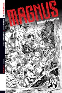 MAGNUS ROBOT FIGHTER #2 HARDMAN BLACK AND WHITE COVER