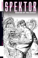DOCTOR SPEKTOR MASTER OF THE OCCULT #1 LAYTON BLACK AND WHITE COVER