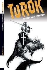 TUROK DINOSAUR HUNTER #5 LEE BLACK AND WHITE COVER