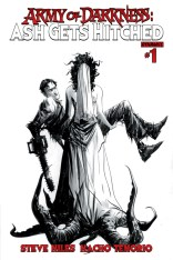 ARMY OF DARKNESS ASH GETS HITCHED #1 LEE BLACK AND WHITE COVER