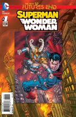 SUPERMAN WONDER WOMAN FUTURES END #1 STANDARD COVER