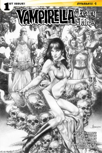VAMPIRELLA FEARY TALES #1 ANACLETO BLACK AND WHITE COVER