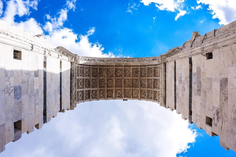 La vista dal facciatone a Siena