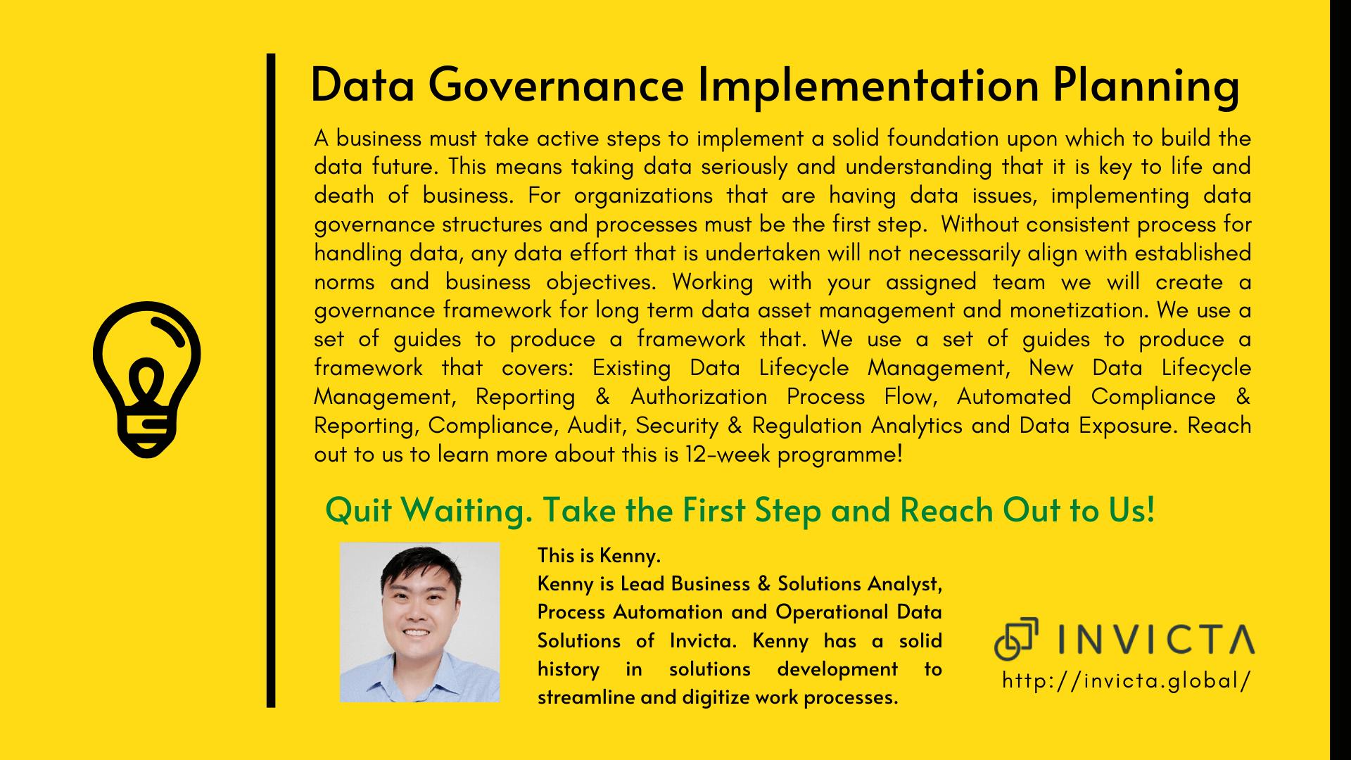 Innovation - Data Implementation Invicta Singapore Digital Transformation