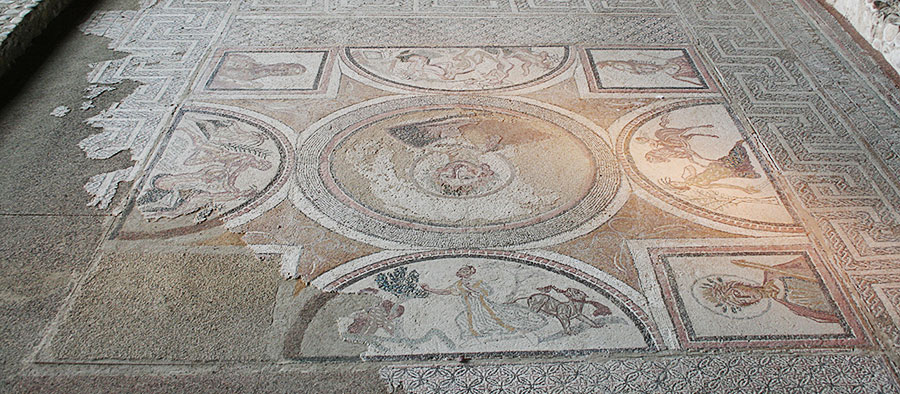 Habitación de Materno en la Villa Romana de Carranque