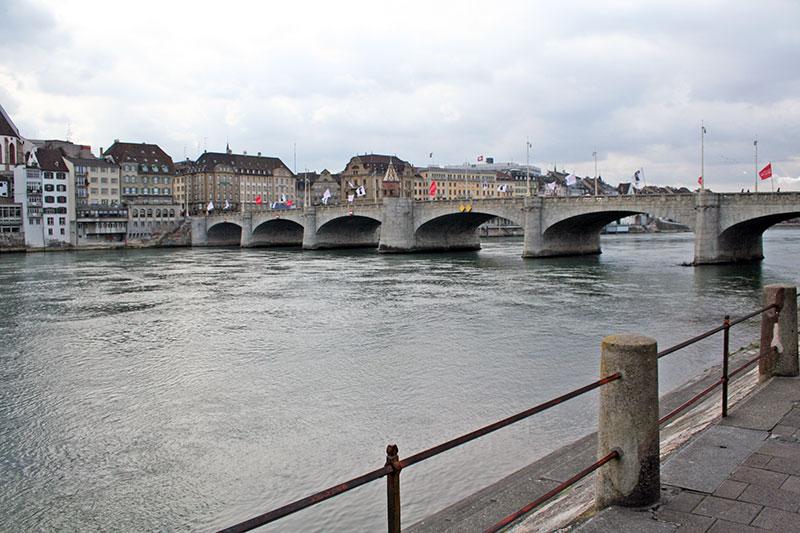 Puente medieval sobre el Rin