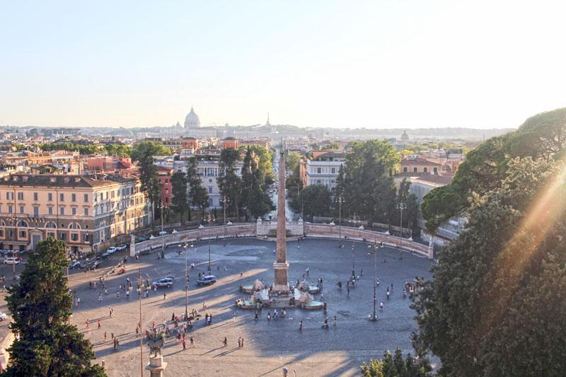 Vistas desde los jardines Borghese