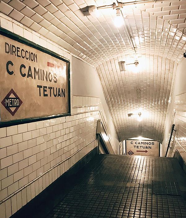 Estación de Chamberí, Anden 0
