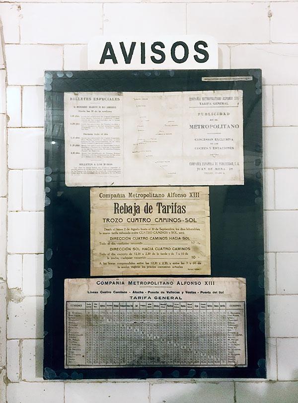 Tarifas y avisos en Anden 0