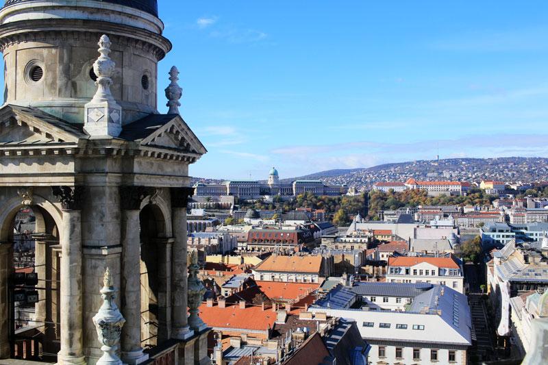 San Esteban, vistas de la ciudad desde la cúpula.