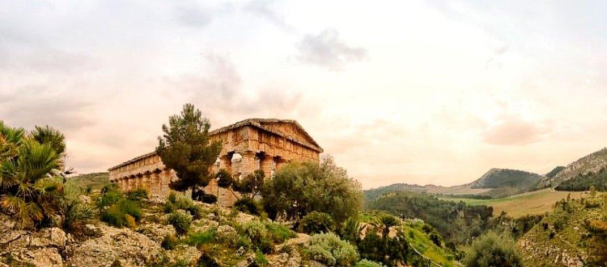 Templo inacabado de Segesta.