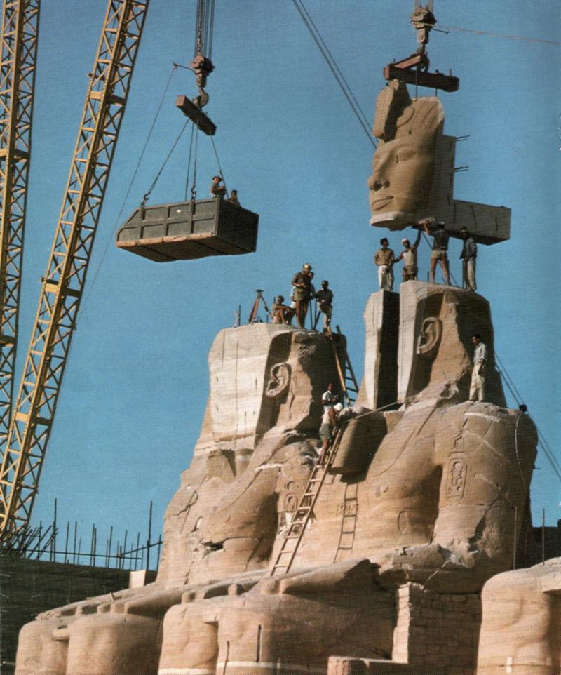 Traslado de los colosos de Ramses II, Fotos de Ragnar Fossgaard.