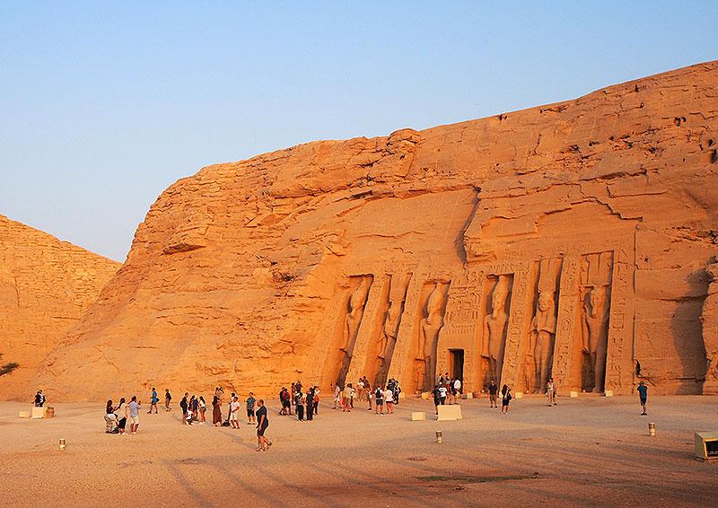 Templo de Nefertari en Abu Simbel.