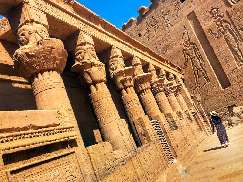 Templo de Hathor en Philae.