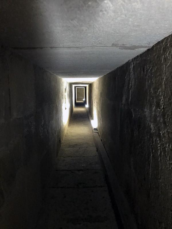 Interior pirámide de Kefren.