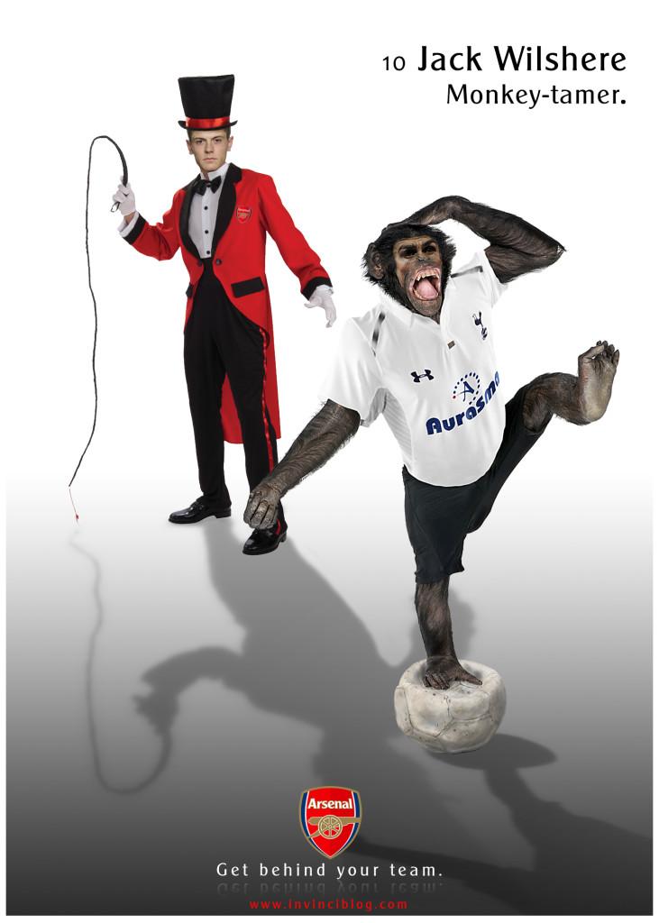 Jack Wilshere - Monkey-tamer.