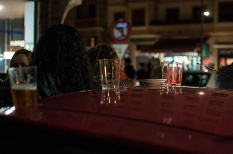Cars moonlight as bar tables in Gros
