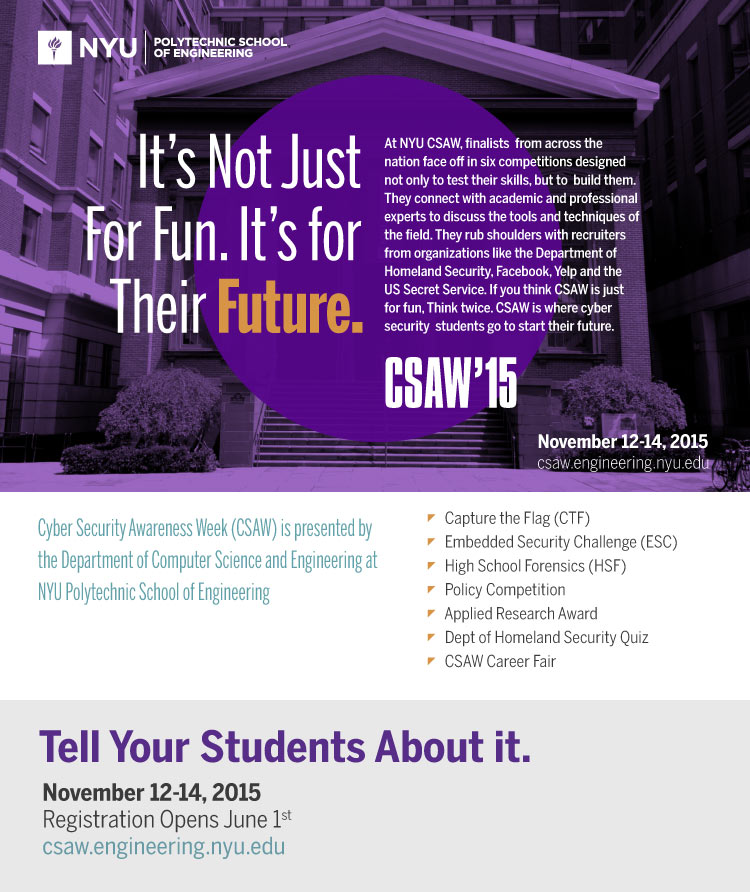 CSAW general mailing