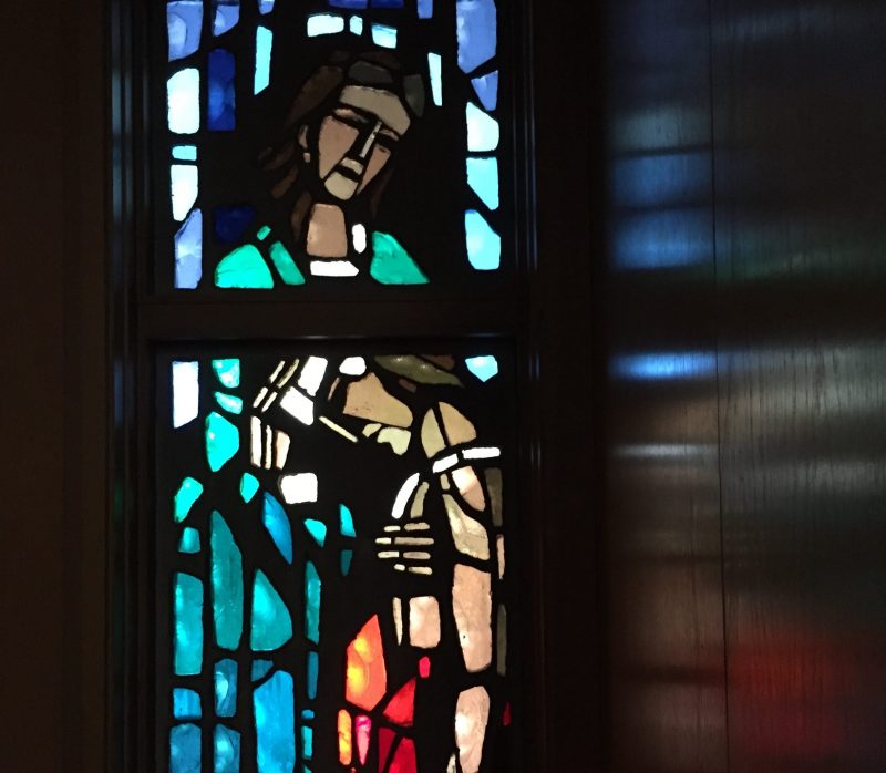Good Samaritan stained glass