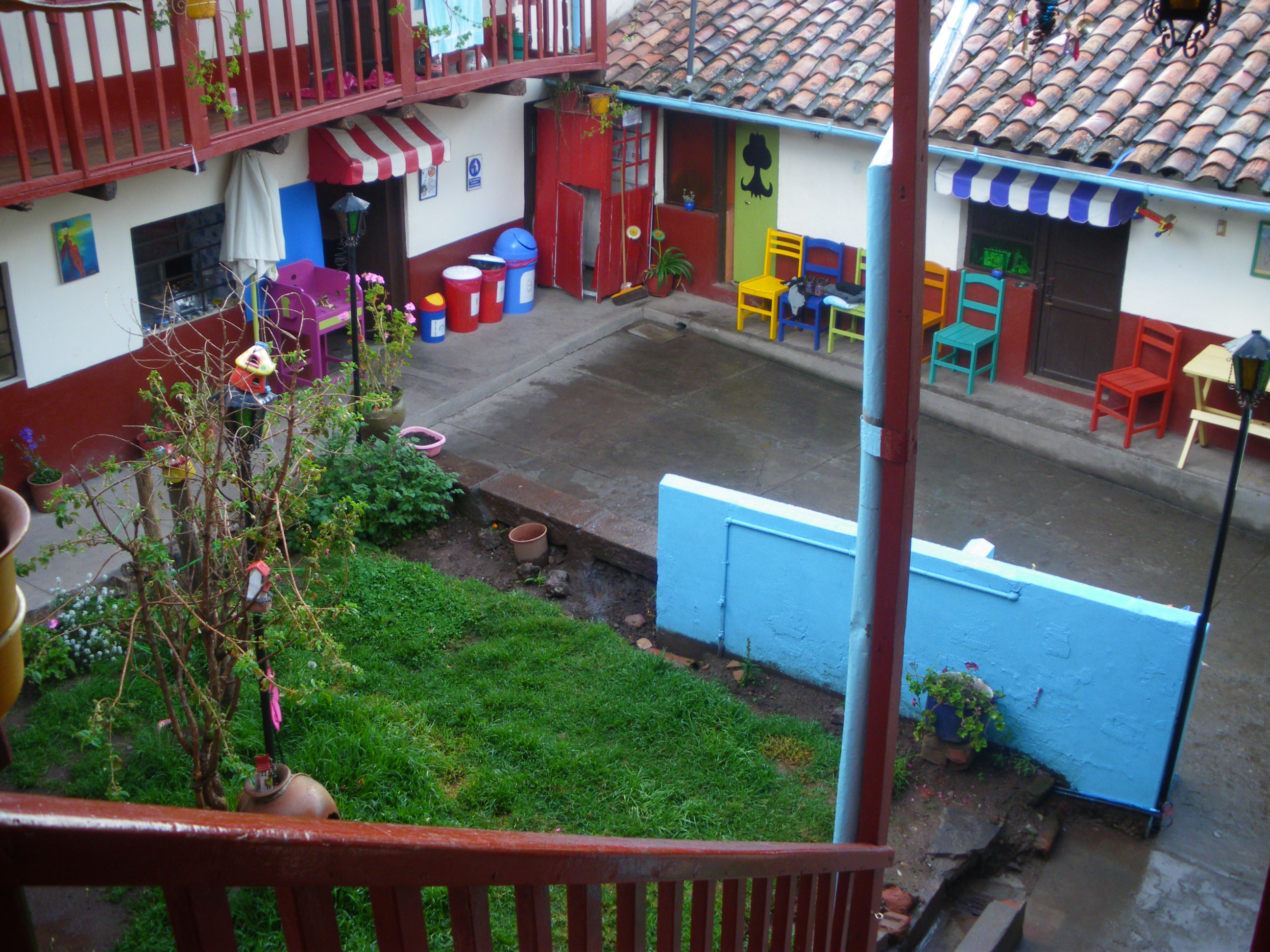 The Courtyard from above.