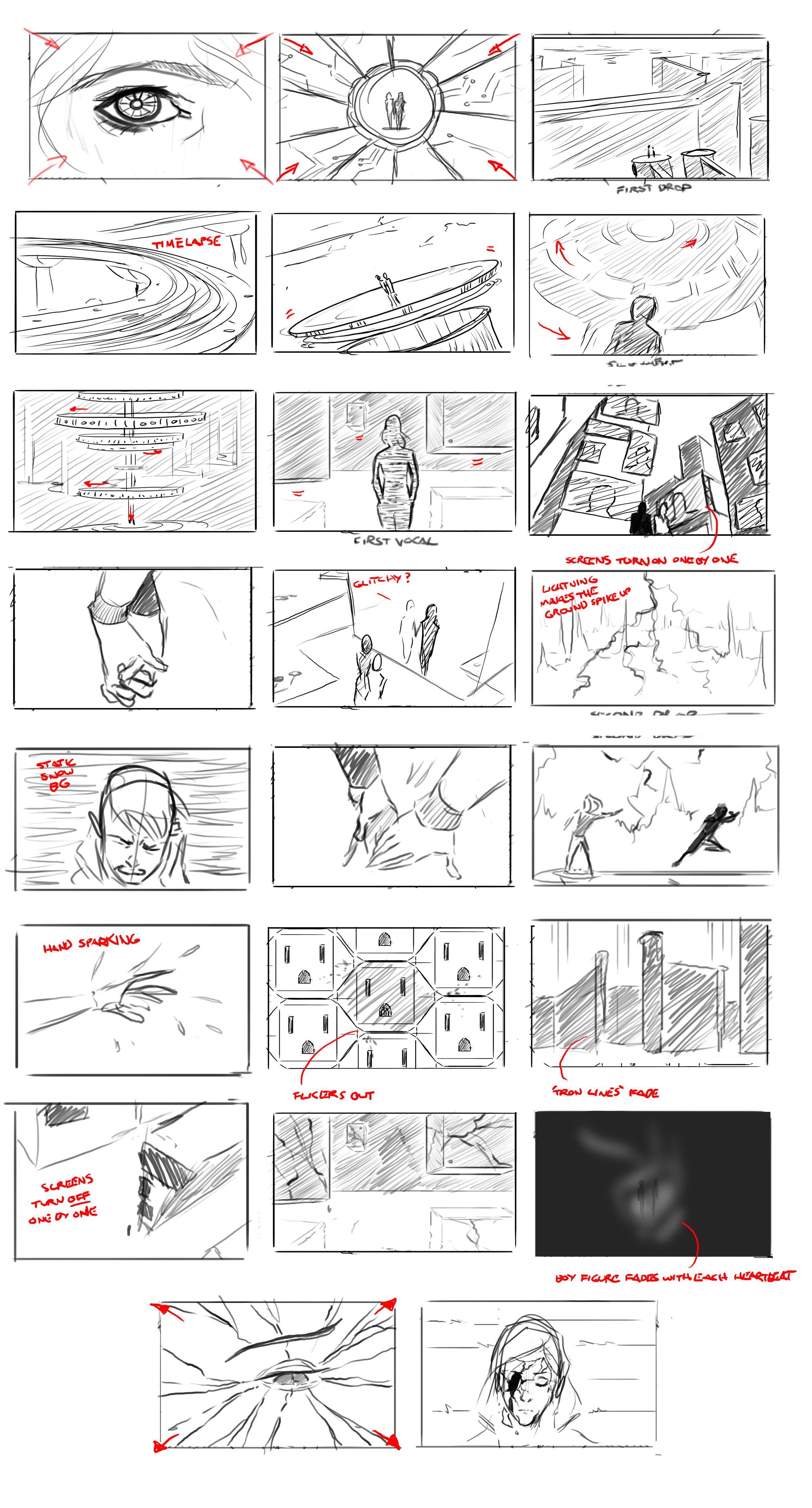 Sketch Fresh Static Snow Storyboards