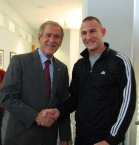 Anthony - meeting Pres. Bush