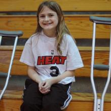 Melanie after injury but before RSD diagnosis, 2010