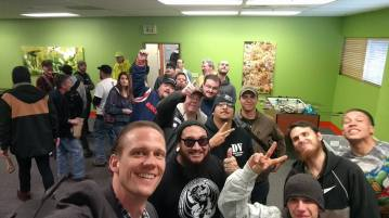hunter photo with members, grow for vets