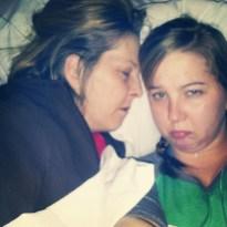 Snuggling in Hospital