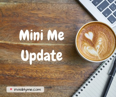 Image of a coffee next to a laptop with the words 'Mini Me update'.