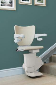 A photo of the Age UK 1100 stairlift.