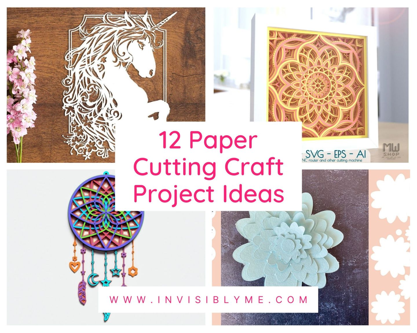 12 Paper Cutting Arts & Crafts Project Ideas