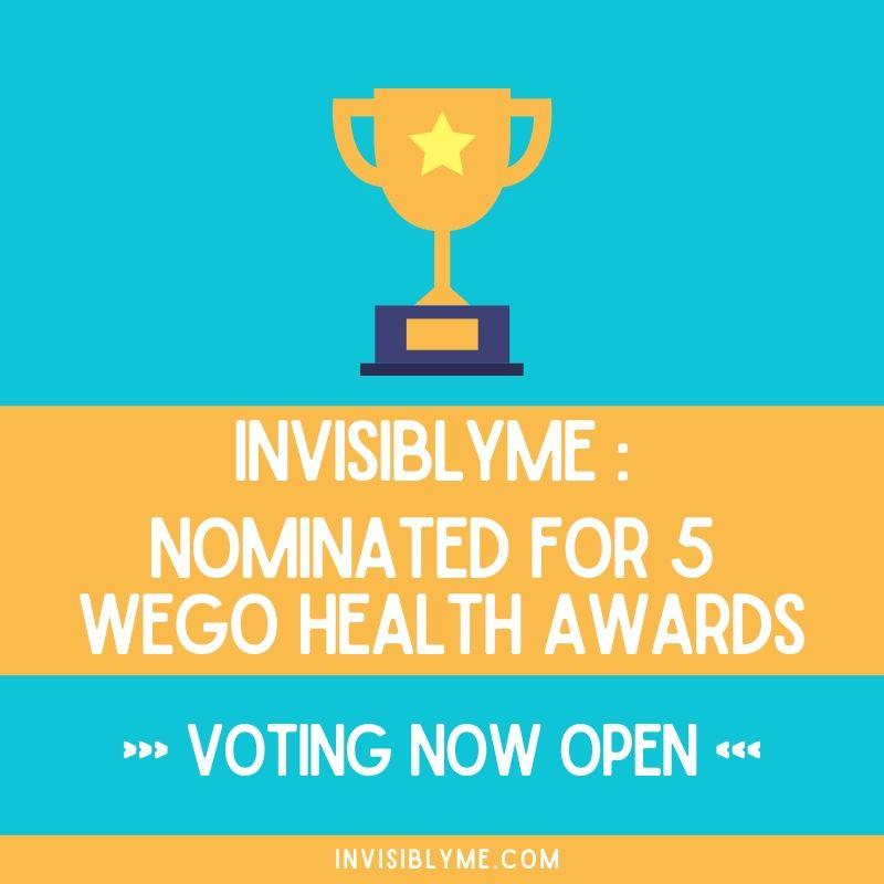 InvisiblyMe Nominated For 5 Wego Health Awards