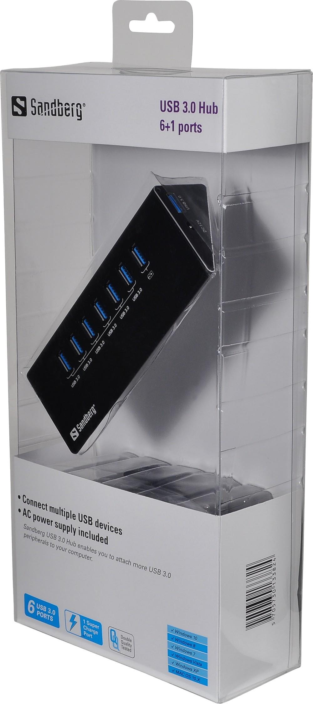7 ports USB 3 hub Packshot
