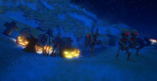 Skeletons_and_glowing_Pumpkins_night