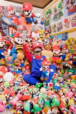 Mitsugu Kikai - Largest Collection Of Super Marios Guinness World Records 2010 Photo Credit: Shinsuke Kamioka/Guinness World Records Location: Tokyo, Japan
