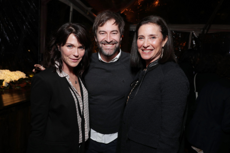 "Katie Aselton, Mark Duplass and Mimi Rogers seen at Netflix's original documentary ""13TH"" reception hosted by Netflix Chief Content Officer Ted Sarandos and Ambassador Nicole Avant with a special conversation moderated by Oprah Winfrey with director Ava DuVernay and Van Jones] on Sunday, January 15, 2017, in Los Angeles, CA. (Photo by Eric Charbonneau/Invision for Netflix/AP Images)"