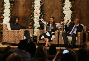 """Oprah Winfrey, Ava DuVernay and Van Jones seen at Netflix's original documentary """"13TH"""" reception hosted by Netflix Chief Content Officer Ted Sarandos and Ambassador Nicole Avant with a special conversation moderated by Oprah Winfrey with director Ava DuVernay and Van Jones] on Sunday, January 15, 2017, in Los Angeles, CA. (Photo by Eric Charbonneau/Invision for Netflix/AP Images)"""