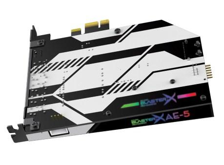 Sound BlasterX AE-5 with RGB Lights Shining Through (PRNewsfoto/Creative Technology Ltd)