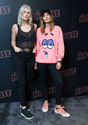 LONDON UK : Ashley James and Charlotte De Carl attend the Casino Screening of The House. (Credit James GIllham/StillMoving)