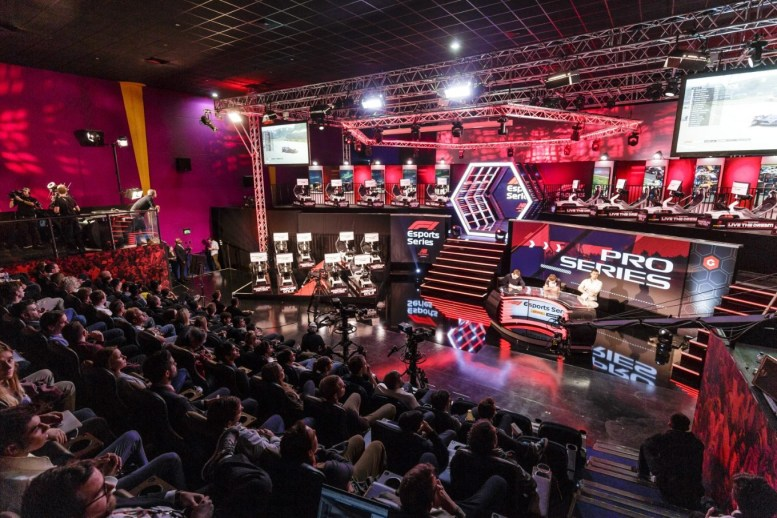 Esports drivers compete in the F1 New Balance Esports Series at GFinity Arena